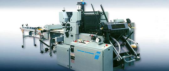 2c-Druckmaschine von W+D mit UV-Trocknung