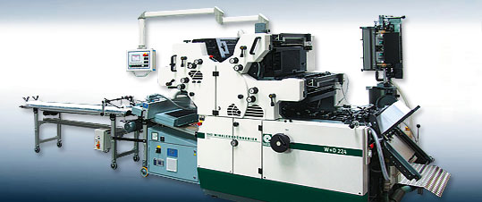 4c-Druckmaschine von W+D mit UV-Trocknung