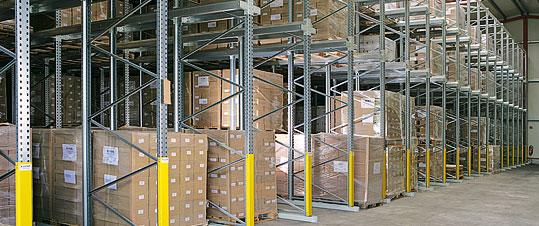Mehr als 5.000 Palettenstellplätze Lagerkapazität